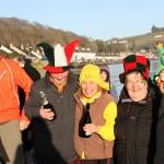 Christmas revellers